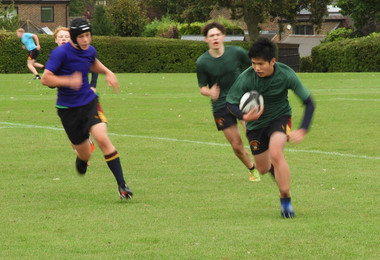 Senior School Rugby Players Try Hard for their House