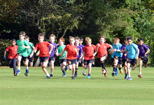 Prep School pupils running in cross country Marathon