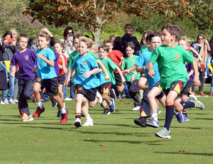 Cross Country marathon race in Prep School