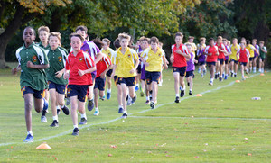 Boys competing in Prep School Marathon