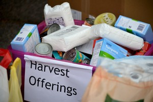 Harvest Offerings outside Mem Hall 2018