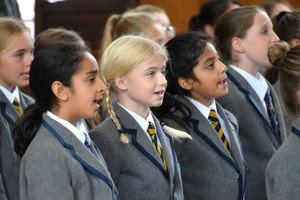 Prep School pupils at Harvest Festival in Memorial Hall