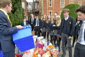 Food parcels after Harvest Festival 2018