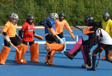 Prep School hockey goalies in action with Fortitude Hockey