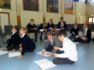 Lower Thirds in Workshop on Islam in Prep School Hall