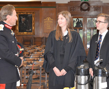 Lord Lieutenant meeting Senior School Head Boy and Girl
