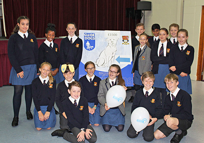 Prep school prefects for guide dogs charity