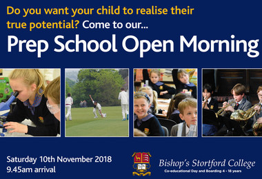 2018 Prep School Open Morning postcard