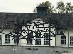 Fence at Dachau Concentration Camp Oct 18