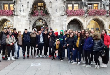 Senior School pupils in Central Munich