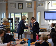 Pauline Mullender presents Curiosity Club Badge