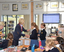 Form 2 pupils receive Curiosity Club badge