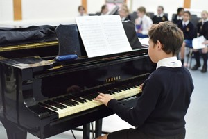 Form 2 pianist in Form 2 Concert