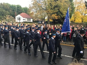 Cadets in B Stortford parade Remembrance Sunday
