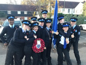 College cadets group Remembrance Sunday November 18