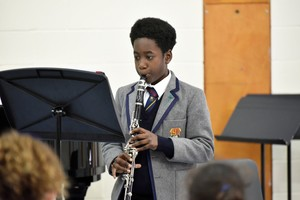 Prep School clarinettist in Form 2 Concert