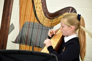 Prep School harpist in Form 2 Concert