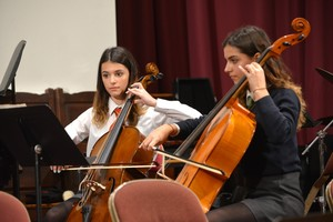 Cellists playing in Senior School Concert 2018
