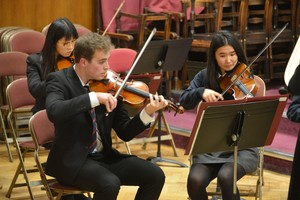 Violinists in Senior School Concert 2018