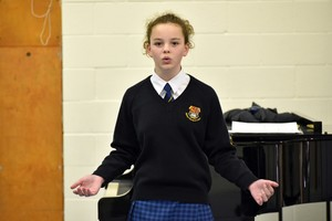 Singer performs in Form 2 Concert Nov 18