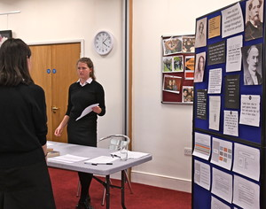 Sixth Former with EPQ presentation 2018