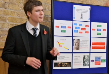 Sixth Form Student discusses his EPQ presentation 2018