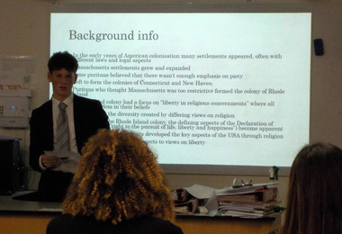 Irp presentation by upper sixth student