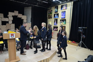 Bully Free Houses award presentation in Leo Price Theatre