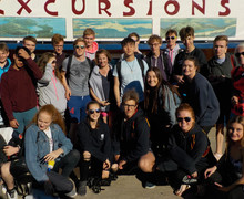 College swimmers on croatia swimming tour