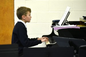 Lower Third pianist performing in concert