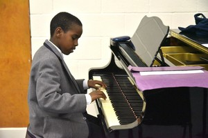 PIanist performing in Lower Third Concert