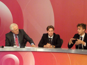 Sixth Form students in Question Time seats