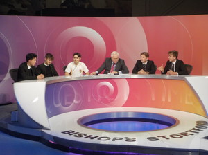 Sixth Form students sit on Question Time set