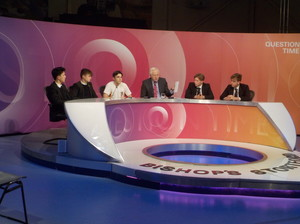 Question Time studio with Sixth Form Students