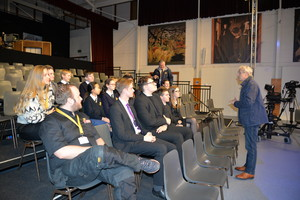 Students on Technical tour of Question Time