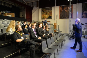 Students listen to Question Time technical talk