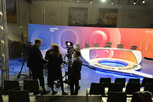 Students on Technical tour with Question Time crew