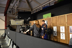 Students learn from crew on Question Time set