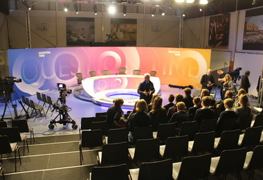 Prep and Senior School pupils on Question Time set