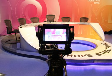 Camera showing Question Time set