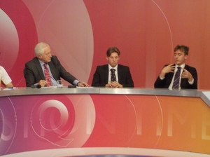 Sixth Formers with David Dimbleby on Question Time panel