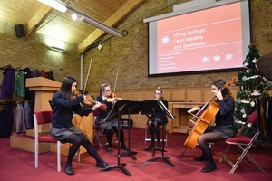 Music recital for OAP guests at Xmas lunch 2018