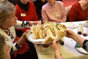 Sandwiches at OAP Xmas Lunch