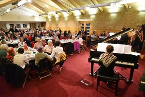 Piano recital for guests at OAP Christmas Lunch 2018