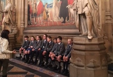 Pupil Councillors Inside Houses of Parliament