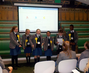 Pupil Councillors in Houses of Parliament building