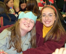 Boarders enjoy Christmas supper 2018
