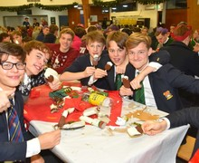 Boarders Christmas Supper 2018 in dining hall