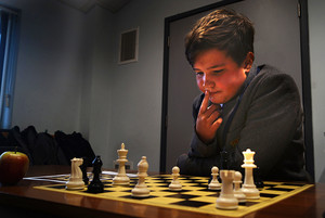 Prep School chess player