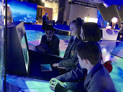 Lower Third pupils interacting at Science Museum 2019